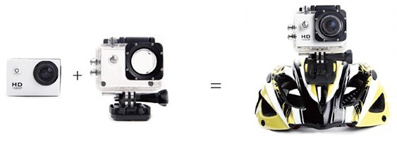 Helmet Camera Mounted Action Cam