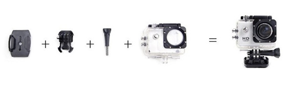 White Waterproof Camera Action Cam