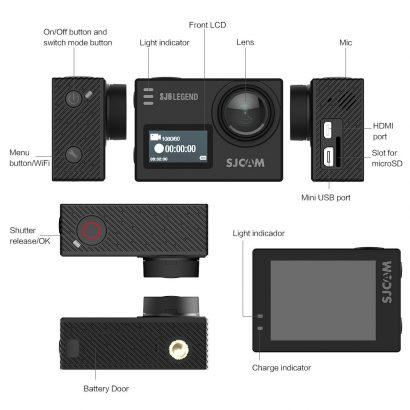 SJCAM SJ6 Legend Black Wifi Action Camera Canada