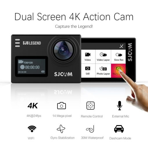 SJCAM SJ6 Legend Black Wifi Action Camera Canada