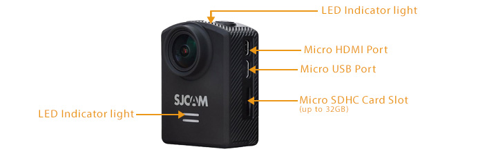 SJCAM M20 Series WIFI Button Diagram LED Action Camera