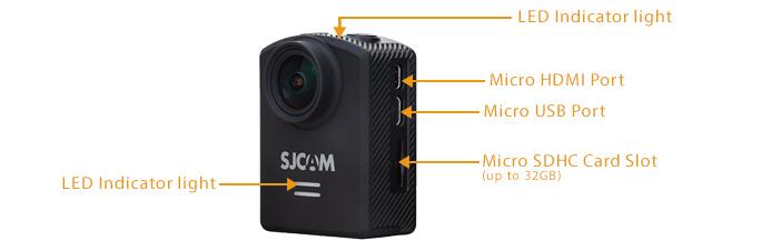 SJCAM M20 Series WIFI Button Diagram LED Action Camera