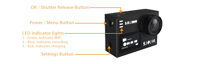 SJCAM SJ6 Legend Action Camera LCD LED Screen Back