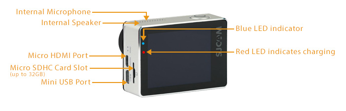 SJCAM SJ7 Star Action Camera LCD LED Screen Back